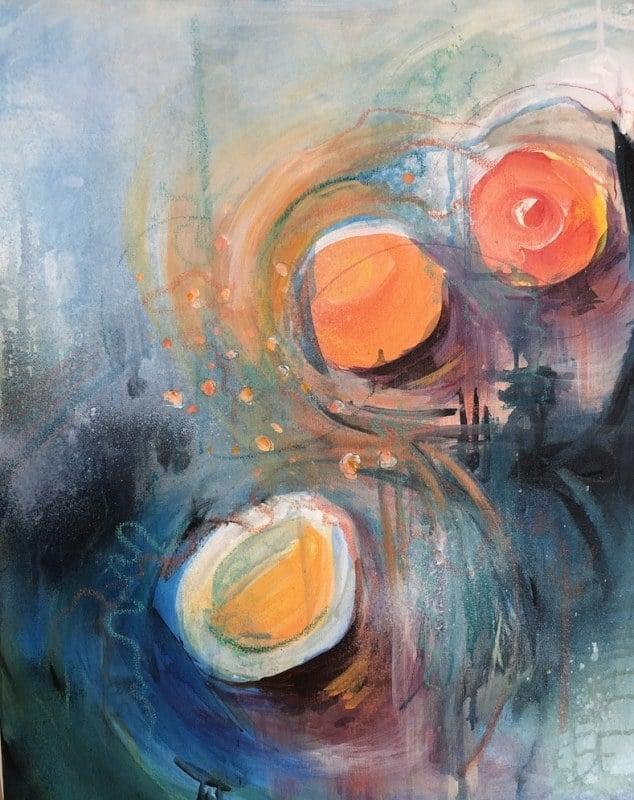 Burst of Breakfast | Heidi Ludwig | Acrylic | 16 x 20 | 400.00