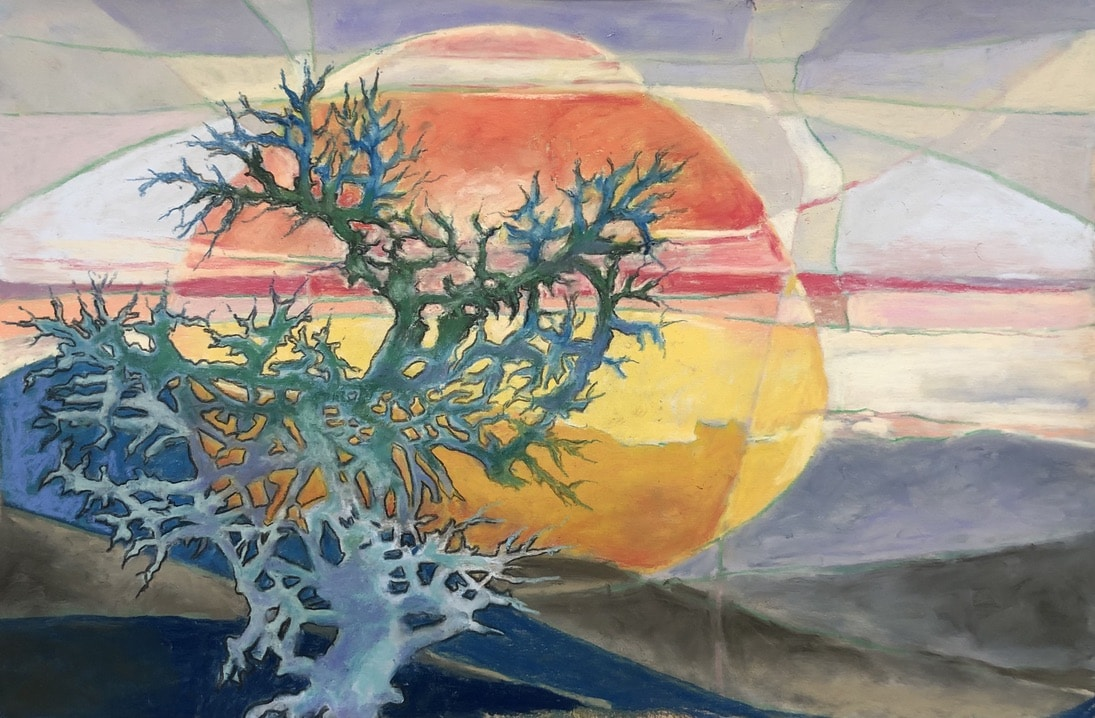 Centuries I Have Seen   Heidi Ludwig   Pastel on sanded paper   13 x 20