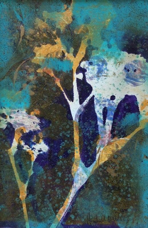 A Flower of Style | Heidi Ludwig | Acrylic monoprint | 4 x 6 | 75.00