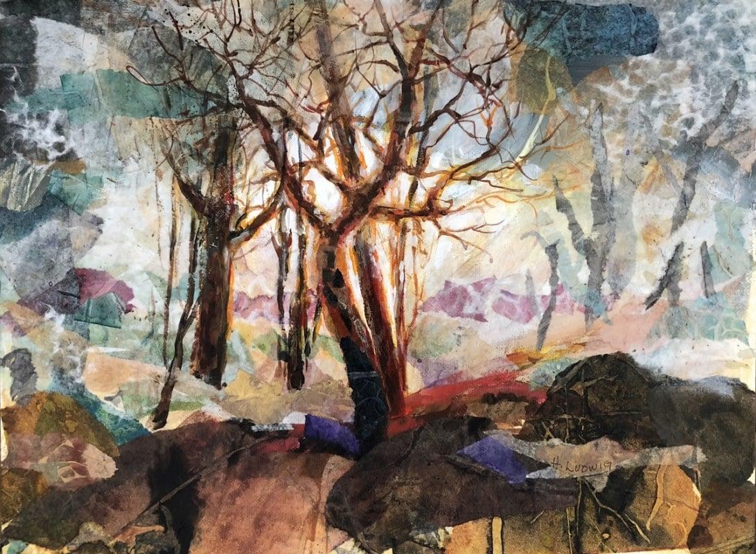 Circle of Trees | Heidi Ludwig | Collage | 16 x 20 | 300.00