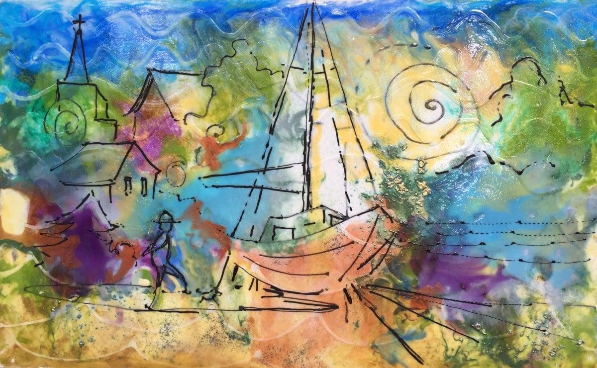 Dockside   Heidi Ludwig   Resin and paint   10 x 16   300.00