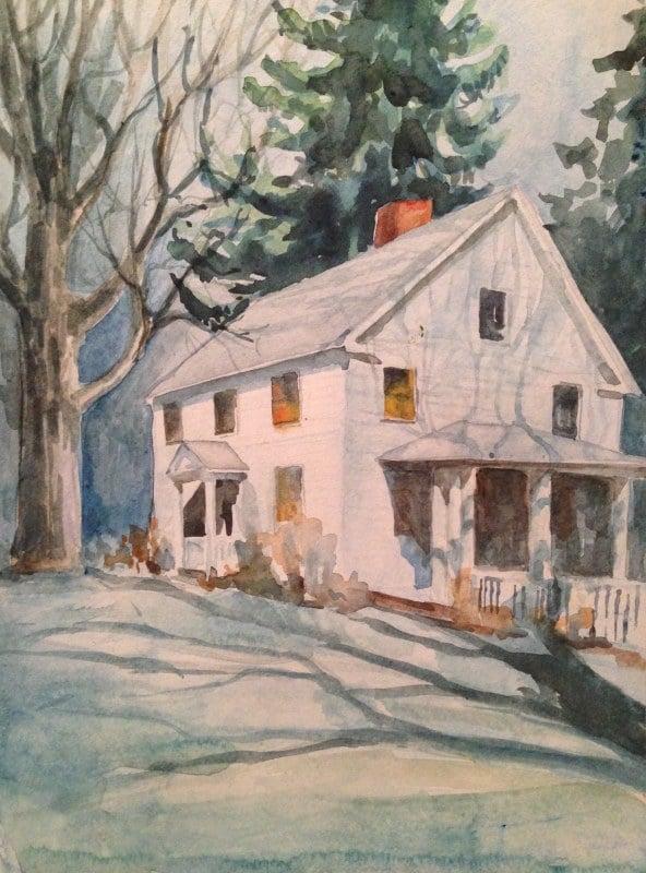 House On The Green | Heidi Ludwig | 11 x 15 | 300.00