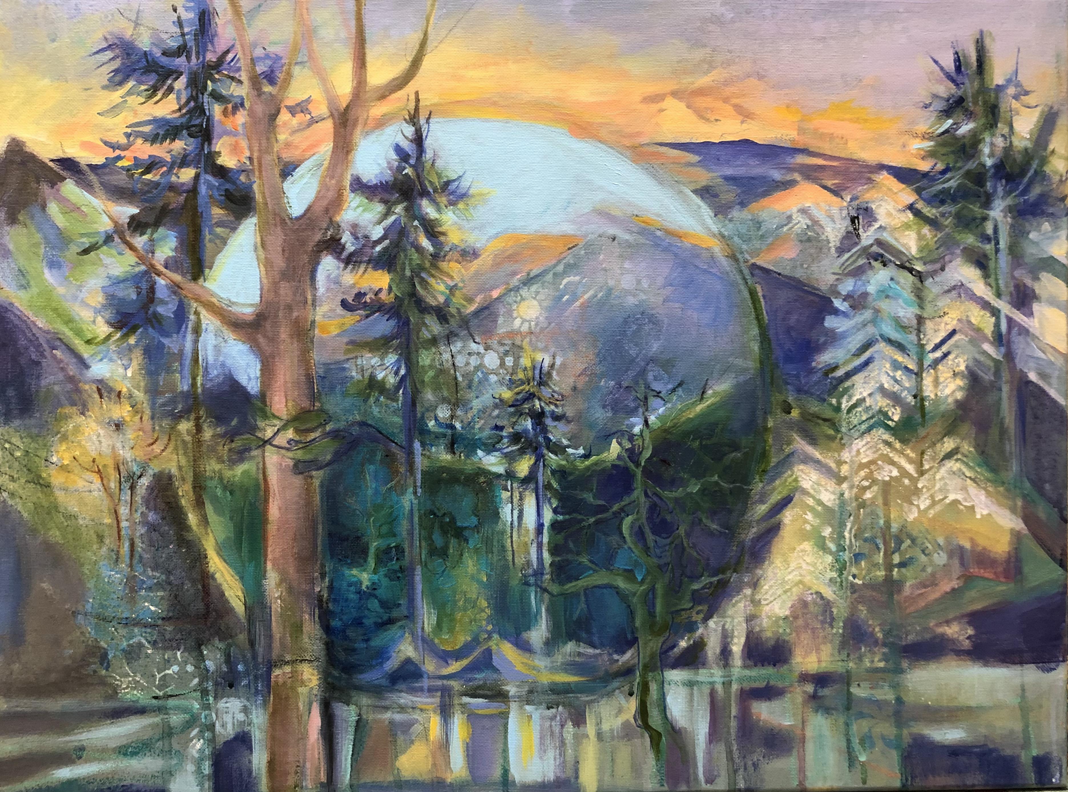 A Blue Moon Arising | Heidi Ludwig | Acrylic on canvas | 18 x 24