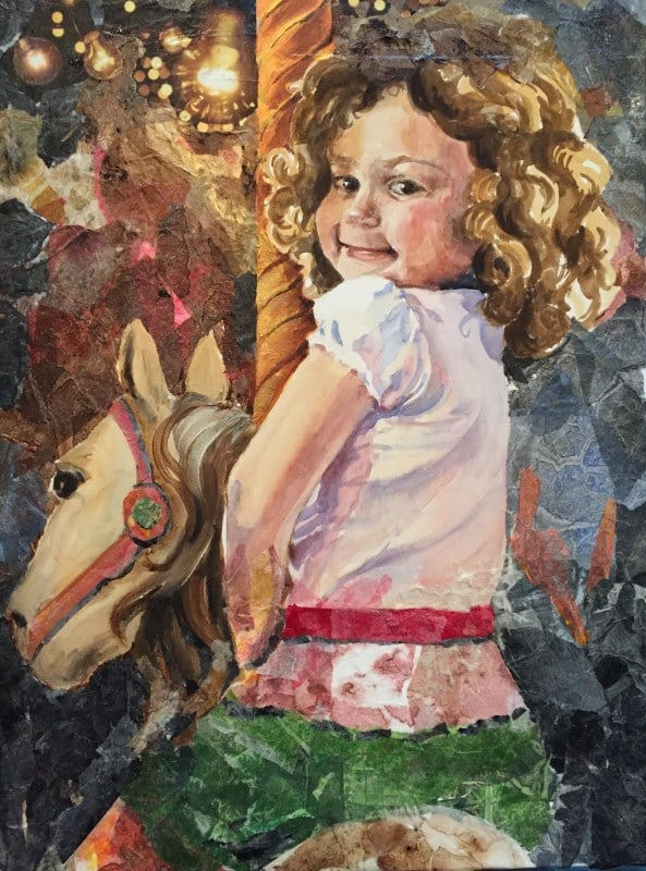 Juliet On The Carousel | Heidi Ludwig | 20 x 30 | Mixed Media | Not For Sale