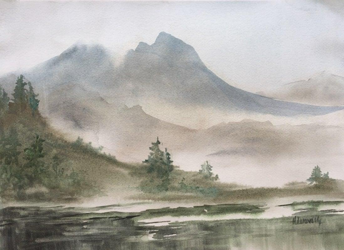 Lake In The Mountains | Heidi Ludwig | 11 x 15 | 300.00