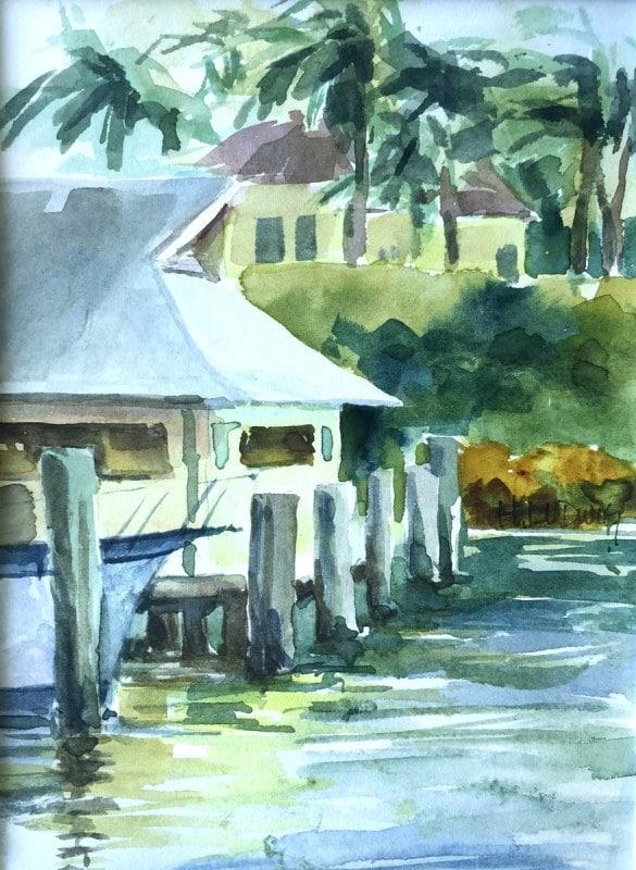 Lighthouse Cove Marina | Heidi Ludwig | 6 x 9 | 125.00