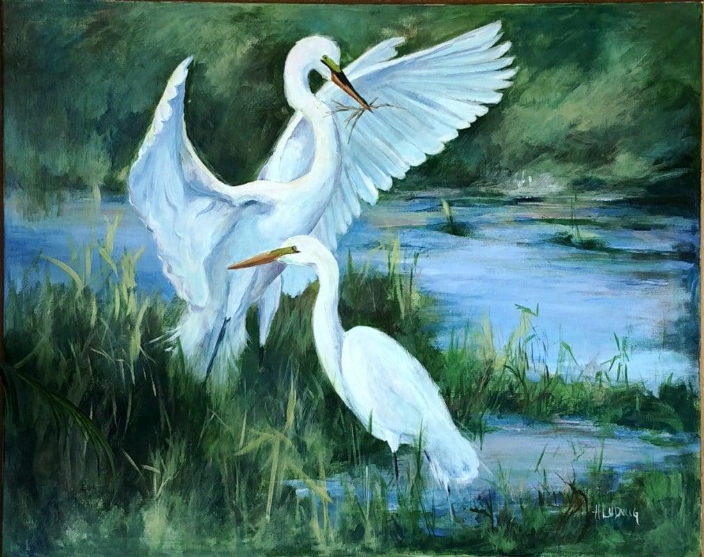 Nesting | Heidi Ludwig | Acrylic | 40 x 40 | 900.00