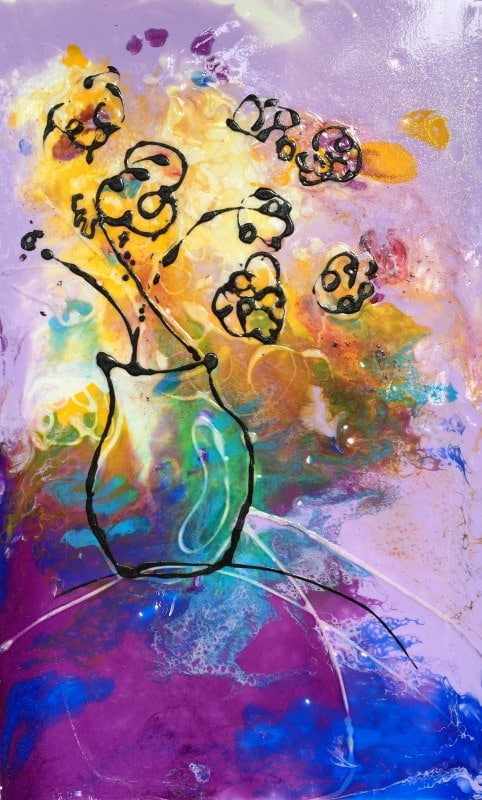 Ode To Matisse   Heidi Ludwig   Resin and paint   10 x 16   300.00