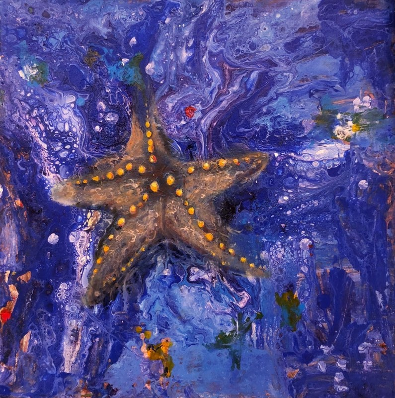 Star of the Sea | Heidi Ludwig | Acrylic | 14 x 14 | 200.00