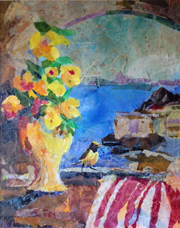 Sunny Side | Heidi Ludwig | Collage | 16 x 20 | 350.00