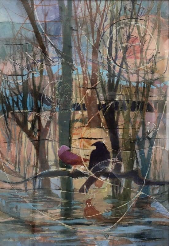 Upon an Autumn Day | Heidi Ludwig | Acrylic Mix | 18 x 24 | 500.00