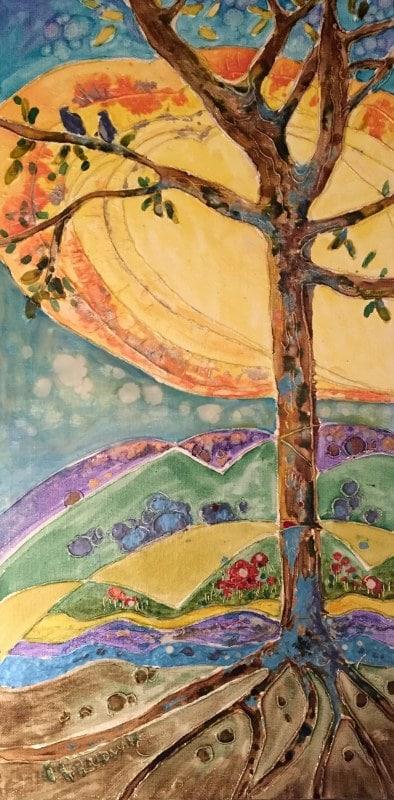 View To The Sun   Heidi Ludwig   Enamel Paint   10 x 20   200.00